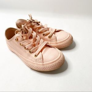 Converse Chuck Taylor Leather Pink Girls Sneakers